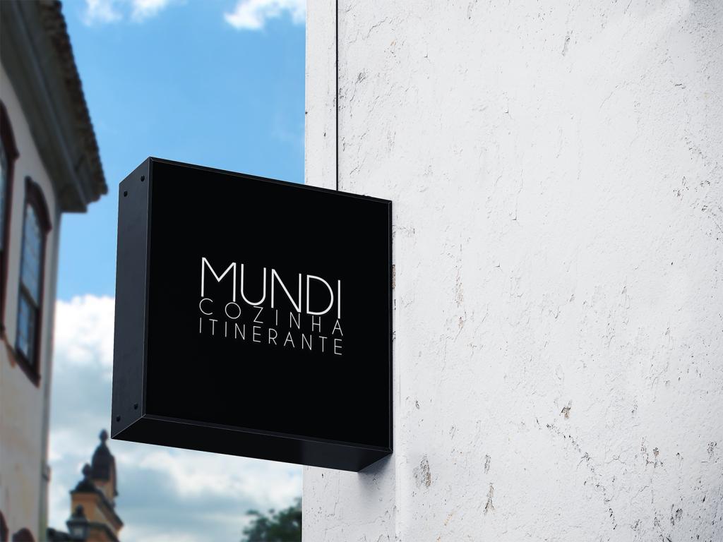 outside restaurant logo sign